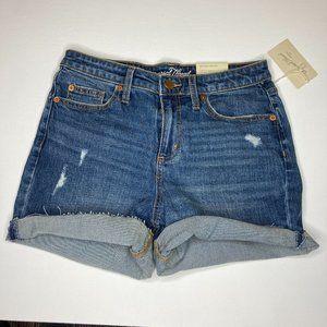 NWT, Medium wash denim boyfriend shorts